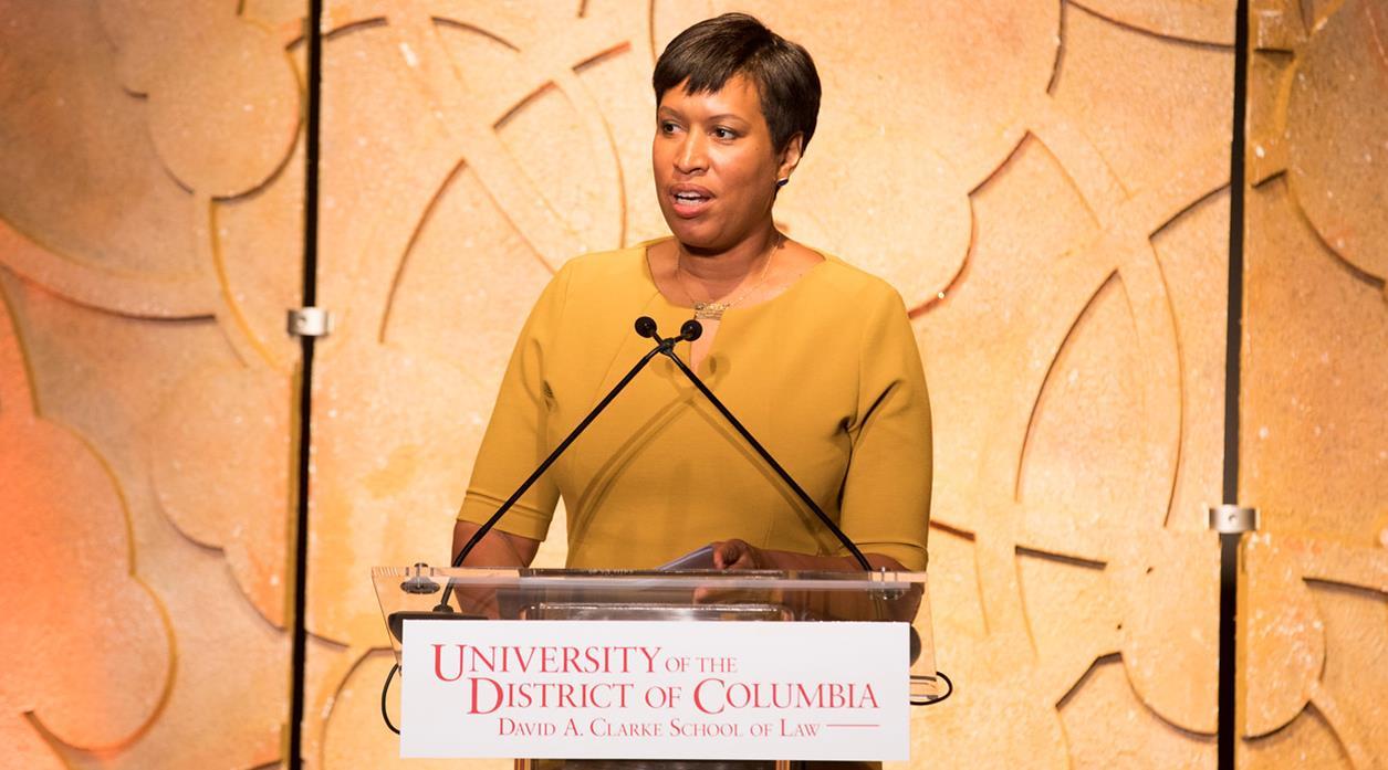 DC Mayor Muriel Bowser speaking at the Gala