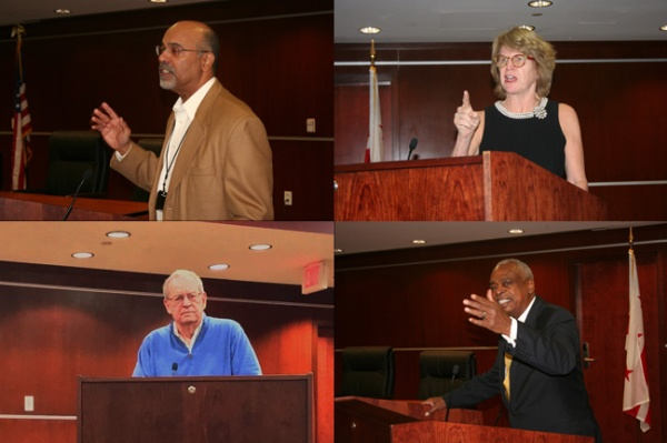 Collage of Ronald Mason, Jr., Shelley Broderick, B. Michael Rauh, and Wade Hendersoncrowd to the 25th Annual Joseph L. Rauh, Jr. Lecture