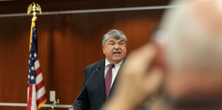 Richard Trumka at lectern