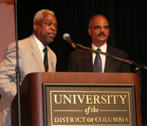 Wade Henderson and Eric Holder